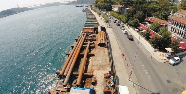Emirgan'da Boğaz 8 metre daralıyor